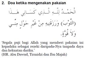 2 - Doa Ketika Mengenakan Pakaian
